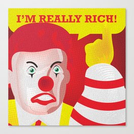 Mc Donald Trump Canvas Print