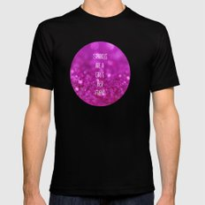 Sparkles are a Girl's Best Friend MEDIUM Mens Fitted Tee Black