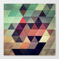 geometric Canvas Prints featuring tryypyzoyd by Spires