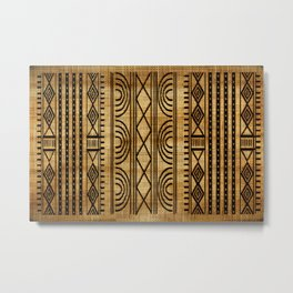 African Weave Metal Print