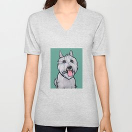 Levi the Miniature Schnauzer Unisex V-Neck
