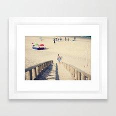 surfing Portugal Framed Art Print