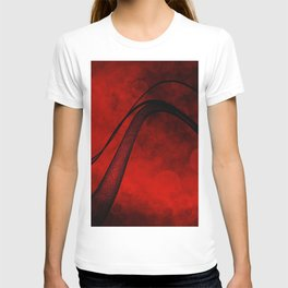 Rouge Crosshatched Wave T-shirt