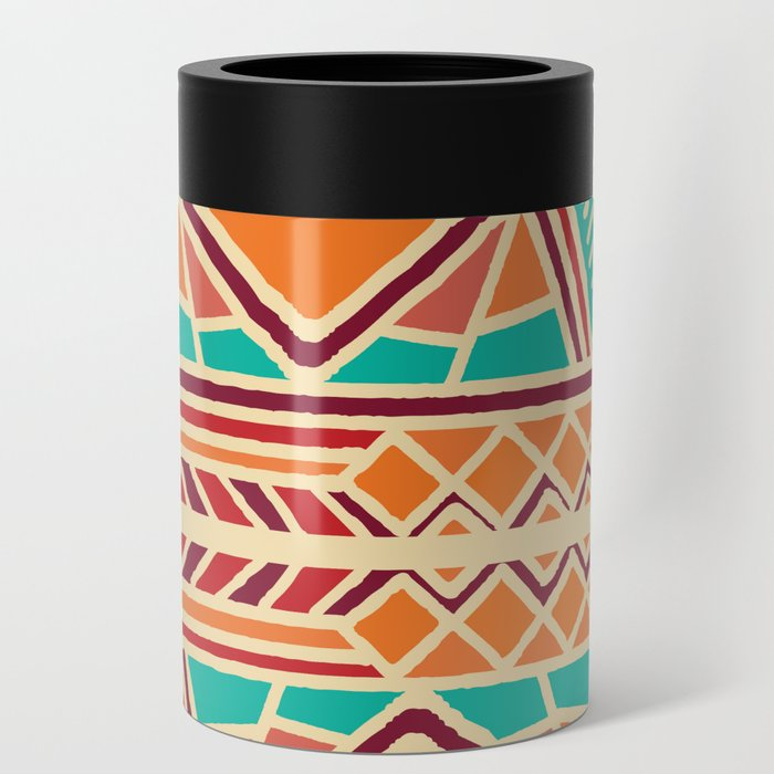 Tribal ethnic geometric pattern 027 Can Cooler