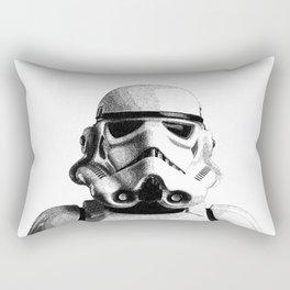 Stormtrooper Dotwork - Pointillism Fan Artwork Rectangular Pillow