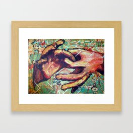 Left Hand Shake Framed Art Print