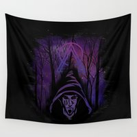 wizard Wall Tapestries featuring Cosmic wizard by Demicc