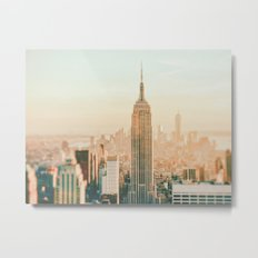 New York City Skyline Dreams Metal Print