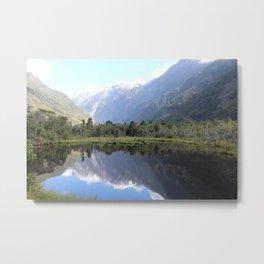 Franz Josef lake Metal Print