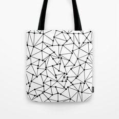 Ab Out Lines With Spots White Tote Bag