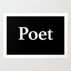 Poet inverse edition Art Print