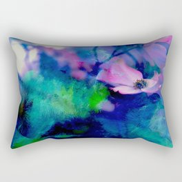 Paint, Petals & Branches Rectangular Pillow