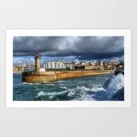 Felgueiras lighthouse... Art Print