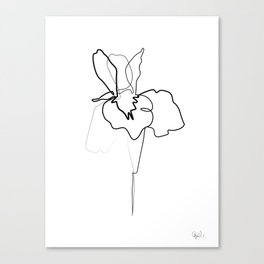 One line Iris Canvas Print