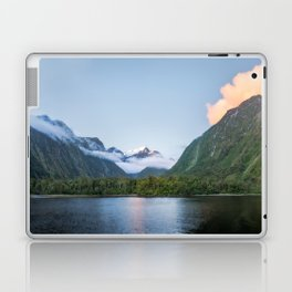 Beautiful sunset color at Harrison Cove in Milford Sound Laptop & iPad Skin