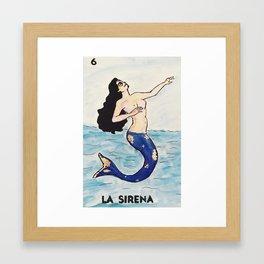 La Sirena Framed Art Print