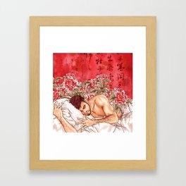 lazily Framed Art Print