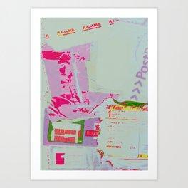 Postage collage  Art Print