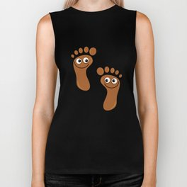Brown Happy Feet Biker Tank