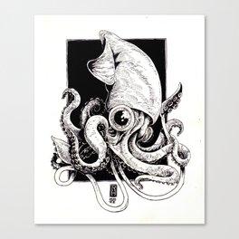 Inky Squid Canvas Print