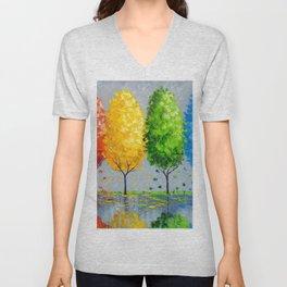 Each tree is individually Unisex V-Neck