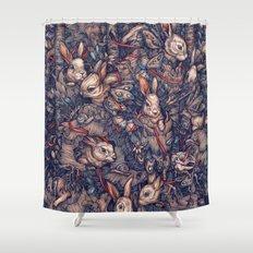 Bunnerflies Shower Curtain