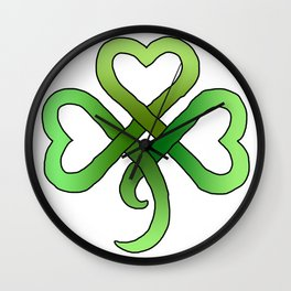 Celtic Clover Wall Clock