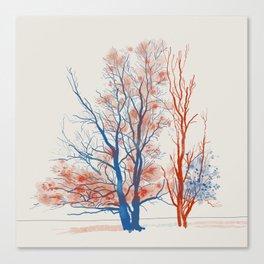 Twiske Trees Canvas Print