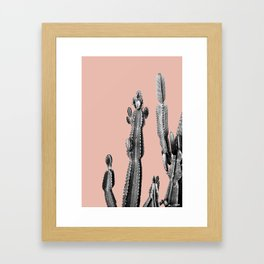pink cactus friend Framed Art Print