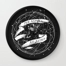 Per Aspera Ad Astra (White) Wall Clock