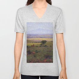 Athi Plains, Mount Kenya, Kenya, Africa Landscape by William R. Leigh Unisex V-Neck