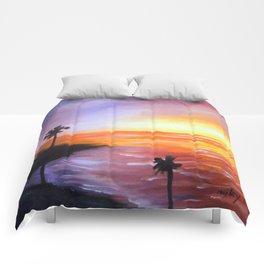 Beach Sunset Comforters