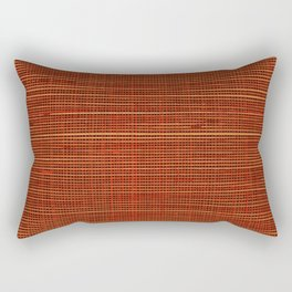 Wicker red design background Rectangular Pillow