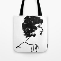 marine Tote Bags featuring Marine by hickeyheart