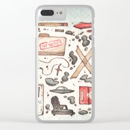 Collection of Ex Files Clear iPhone Case