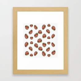 Its Raining Cheeseburgers Framed Art Print