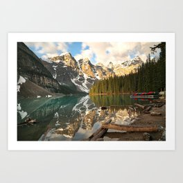 Calm Moraine Lake Art Print