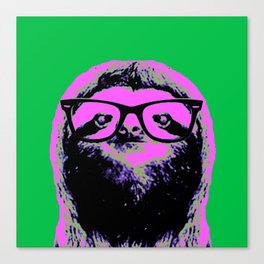 Warhol Sloth (4) Canvas Print