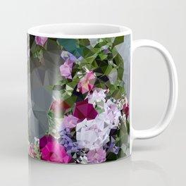 In Memoriam Low Poly Geometric Triangles Coffee Mug
