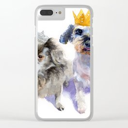 Canine Royalty Clear iPhone Case