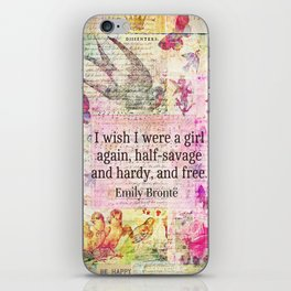Emily Bronte quote about freedom iPhone Skin