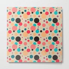 Multicolored Geometric Polka Dot Pattern Metal Print