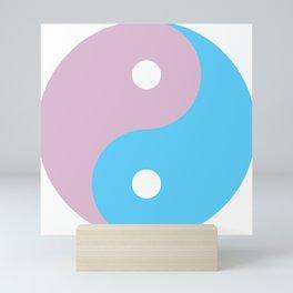 Transgender Yin Yang Symbol Mini Art Print