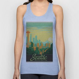 Vintage poster - Seattle Unisex Tank Top