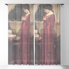 John William Waterhouse - The Crystal Ball Sheer Curtain