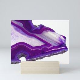 A piece of purple agate Mini Art Print