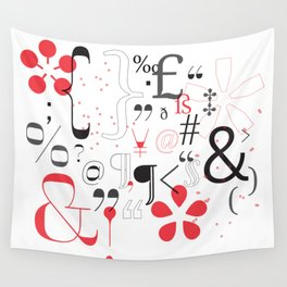 Glyphs Poster  Wall Tapestry