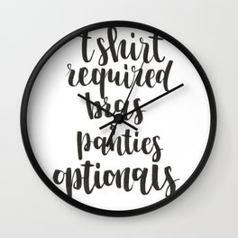 Calligraphy suggestion Wall Clock