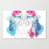 glasses Canvas Prints featuring Glasses by Camis Gray