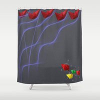 boats Shower Curtains featuring Boats by XKbeth